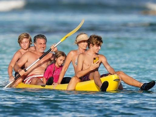 Angélica e Luciano Huck curtem férias em família no Caribe. Lockdown para você!