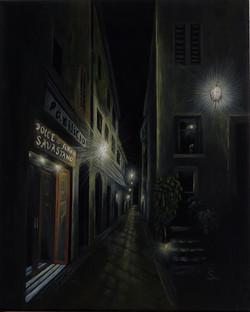Nachts in Italien (50x70 Acryl)