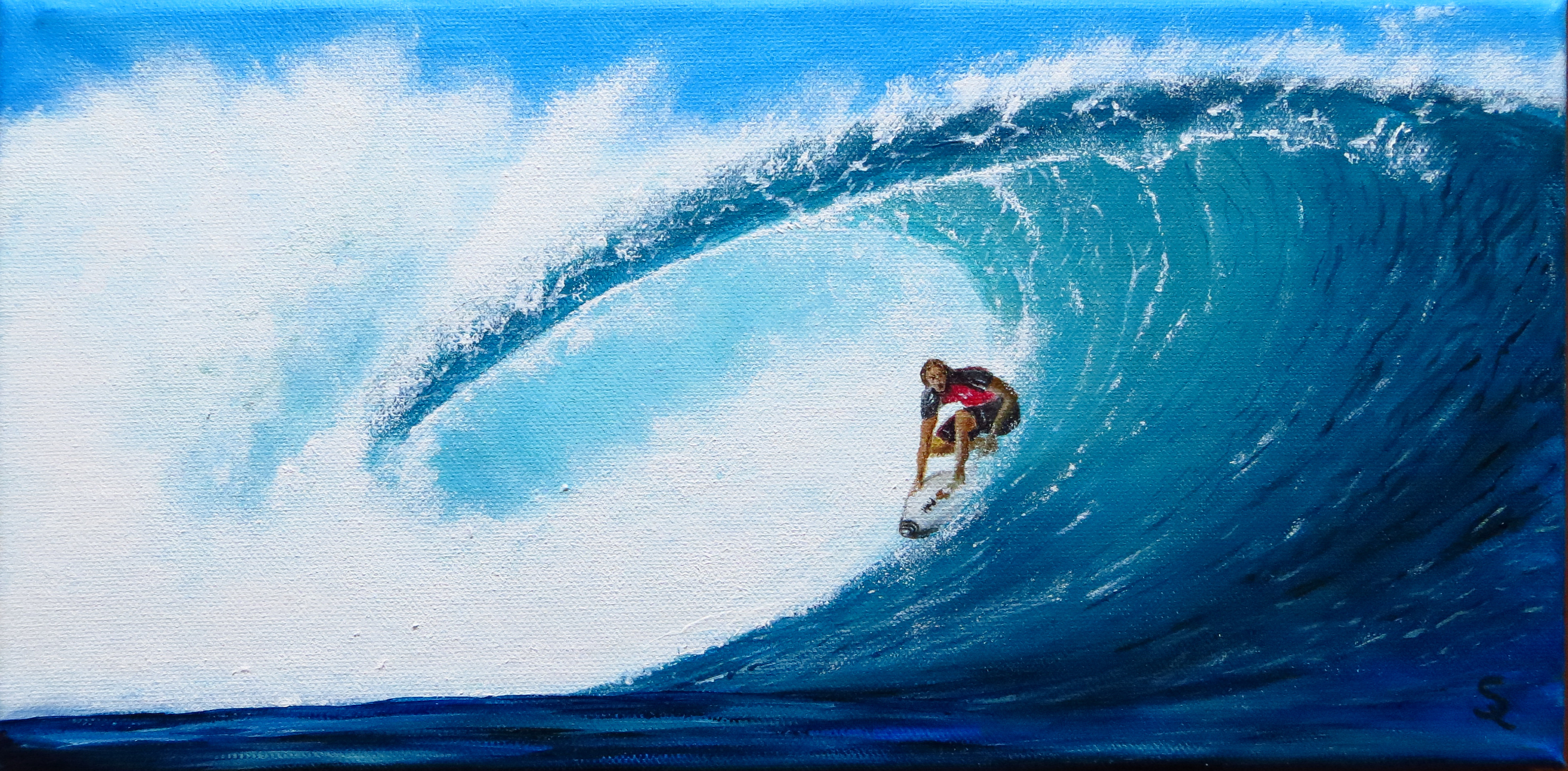 Cooler Surfer (40x20 Acryl)