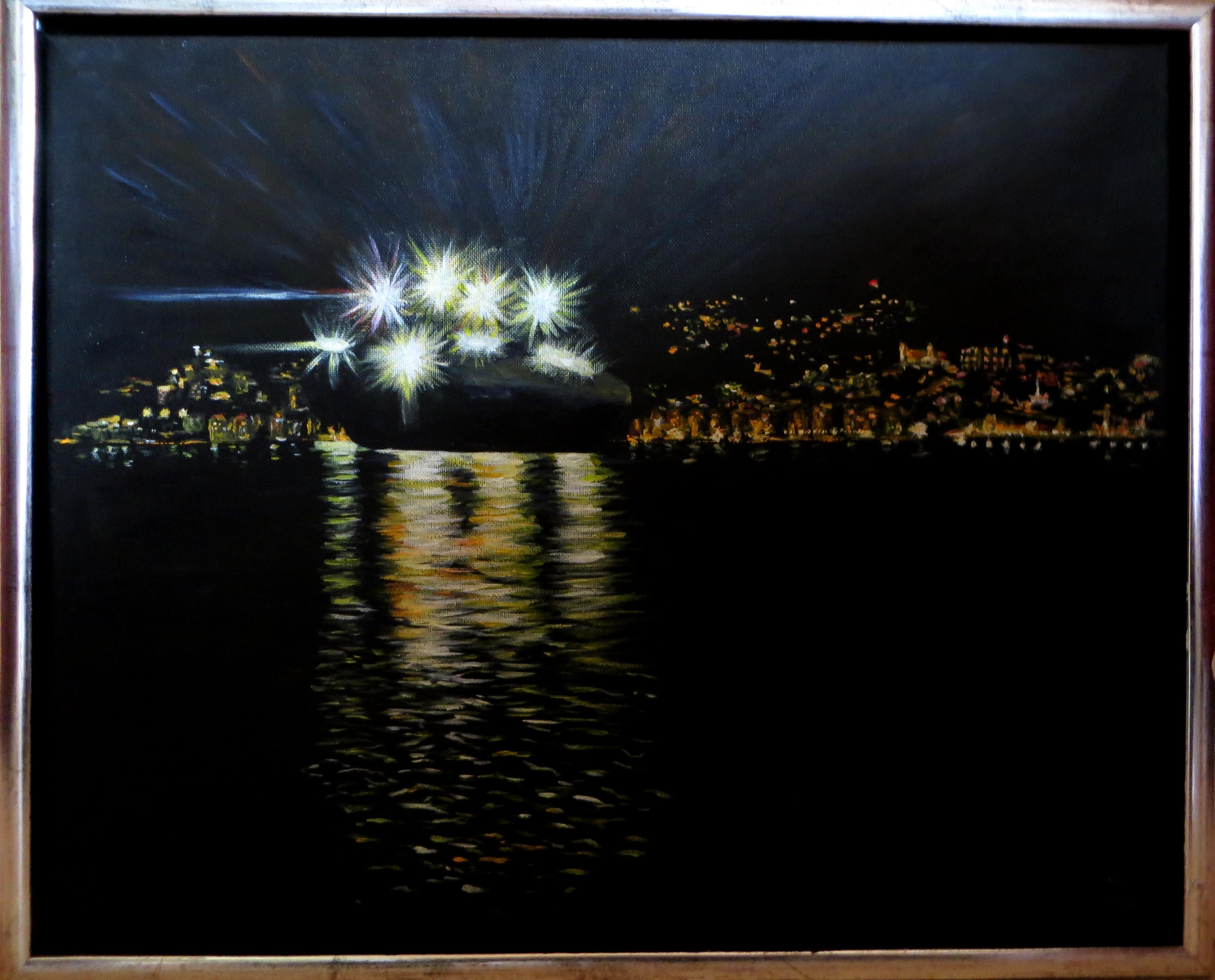 Nachtfähre verlässt Wellington