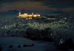 Veste Coburg bei Nacht (60x40 Acryl)
