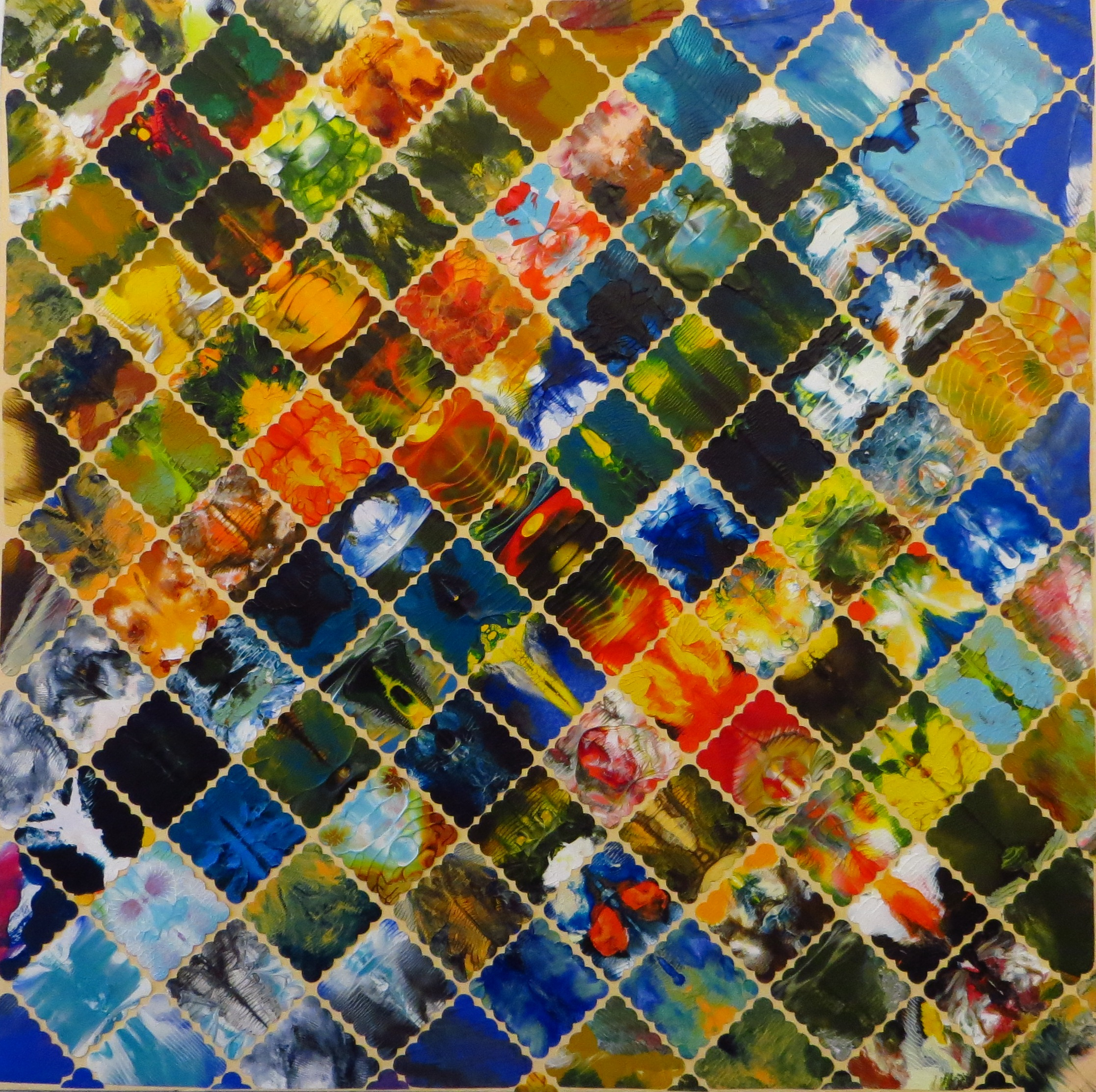Mosaik II (30x30) Art in Art