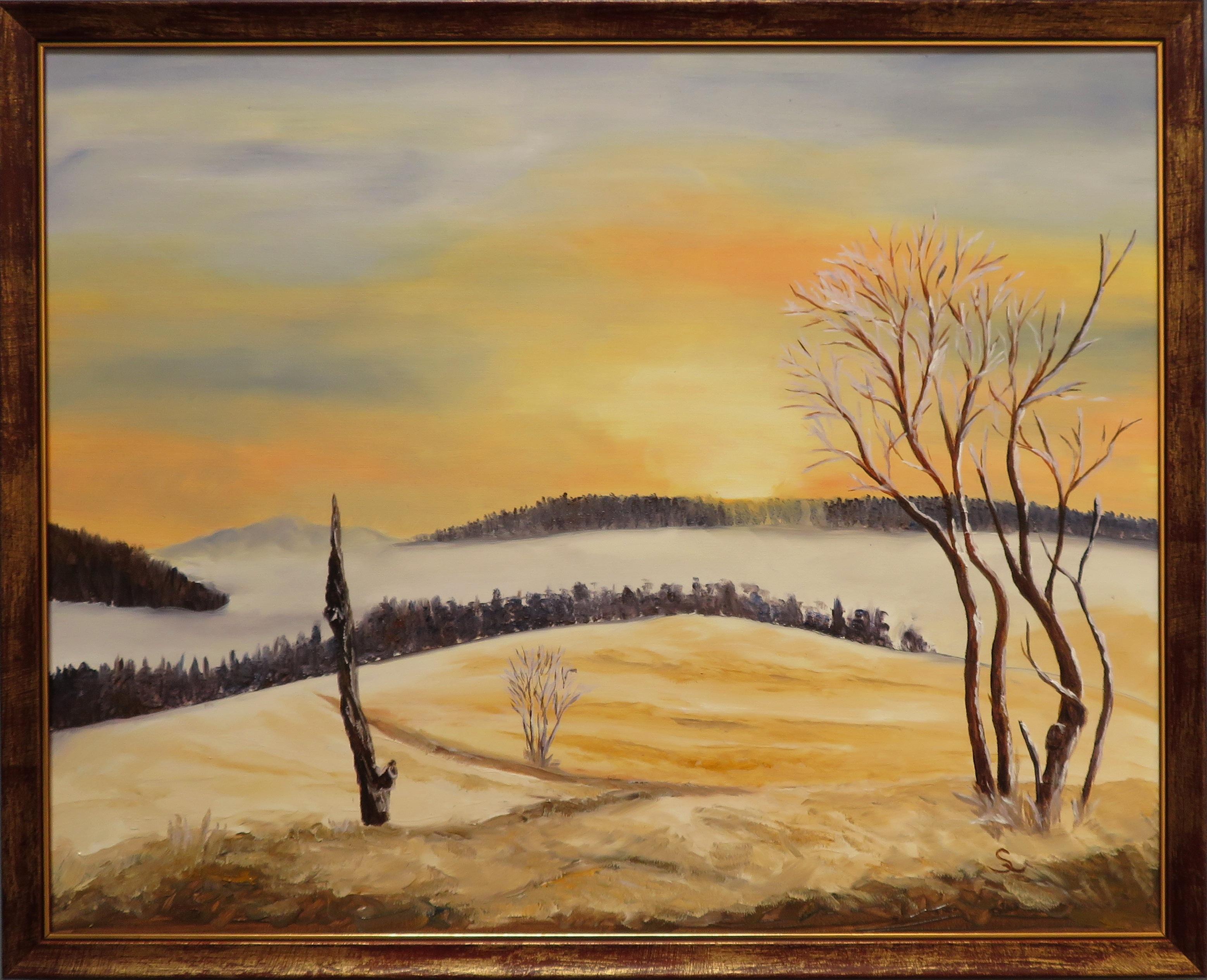 Winterabend - Öl (40x50)