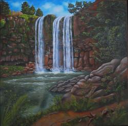 Whangarei Falls - Öl auf Leinwand (60x60)
