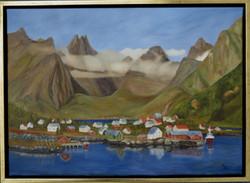 Blick auf Reine - Öl (50x70) verkauft