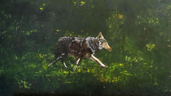 Omegawolf (70x40 Acryl)