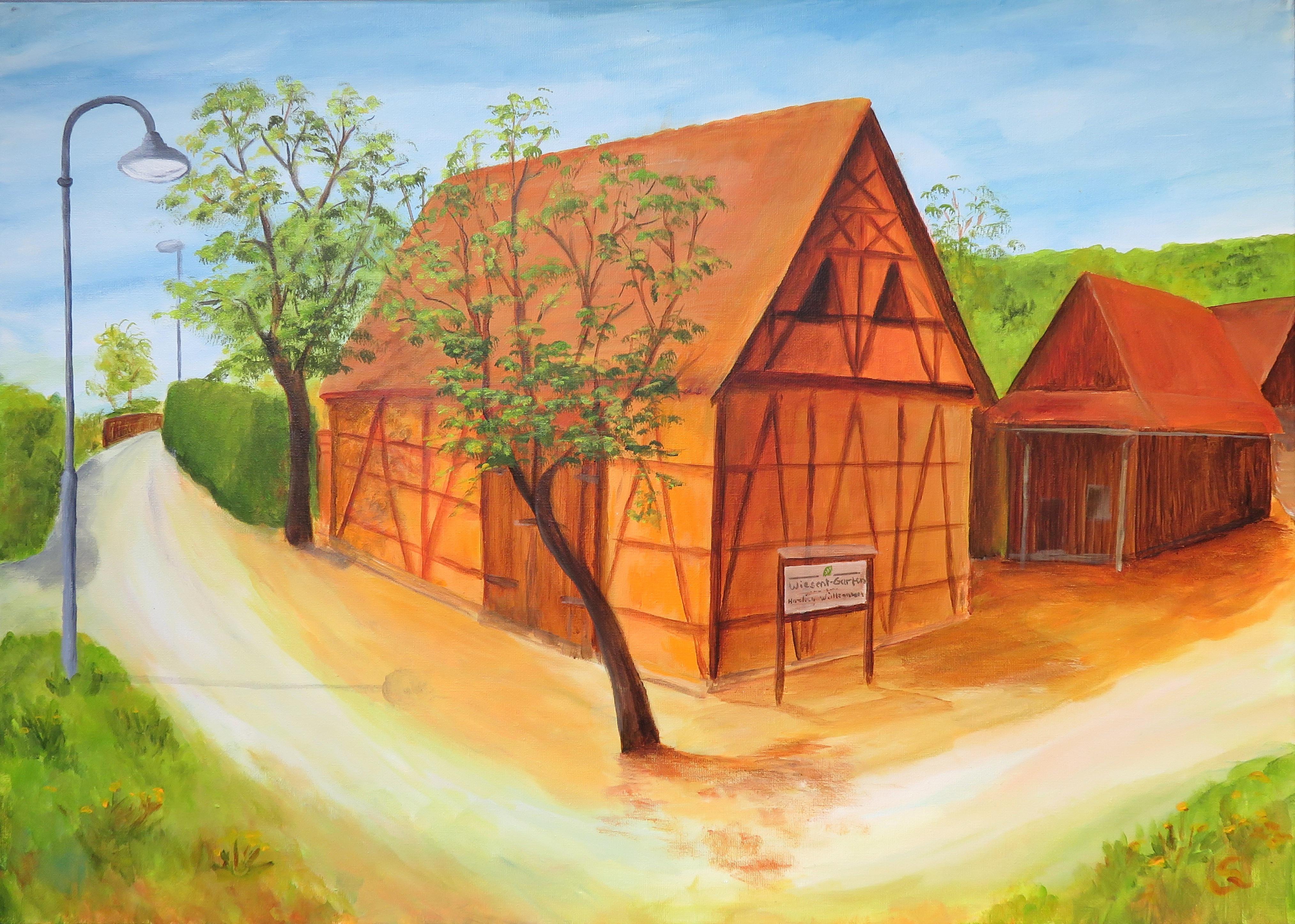 Der Wiesen- Garten (50x70) Acryl