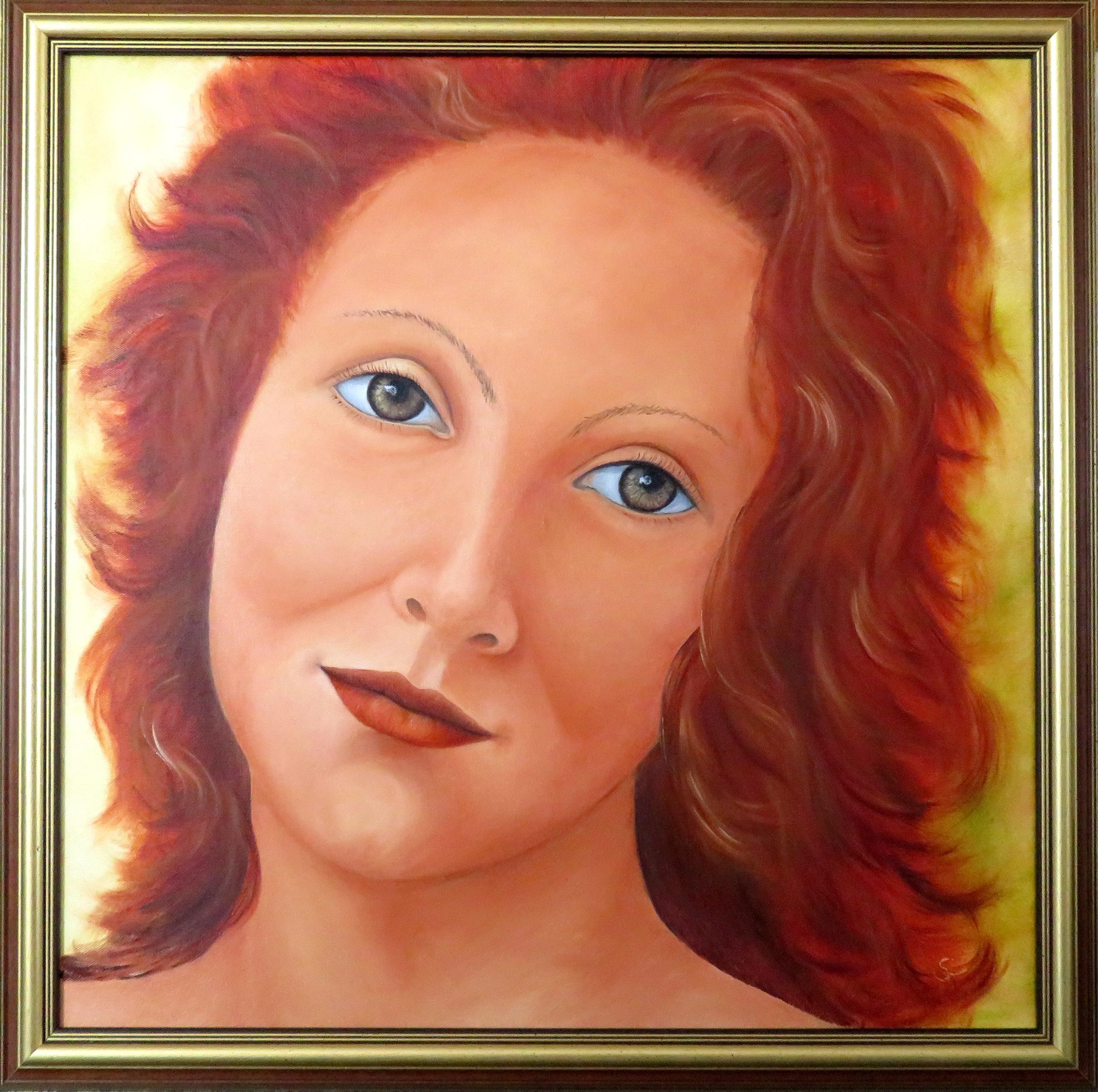 Homage an Botticelli- Feuerkind(60x60)