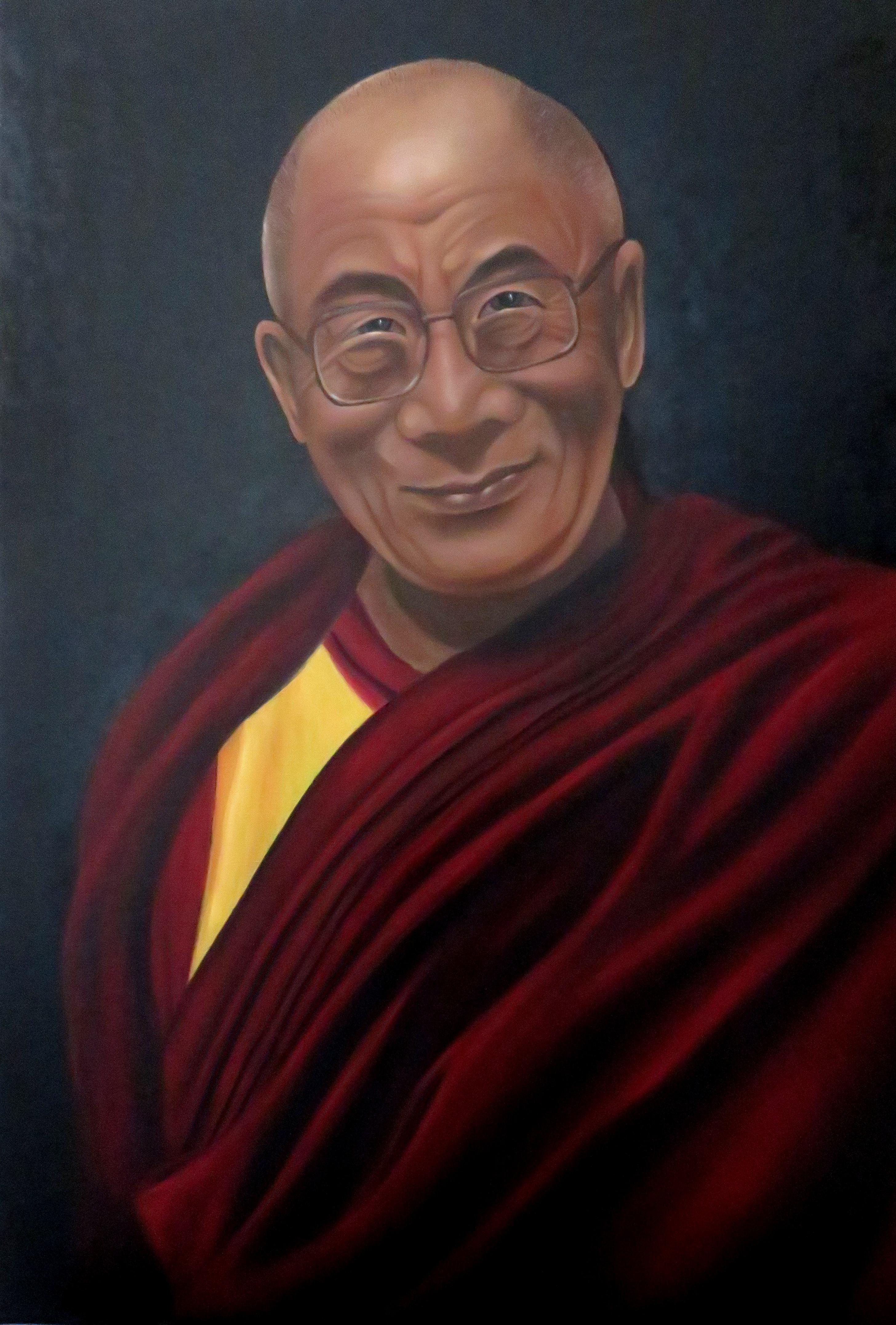 14.Dalai Lama (80x60) Öl auf LW