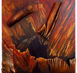Die alte Weide (100x100) Acryl Styrodor
