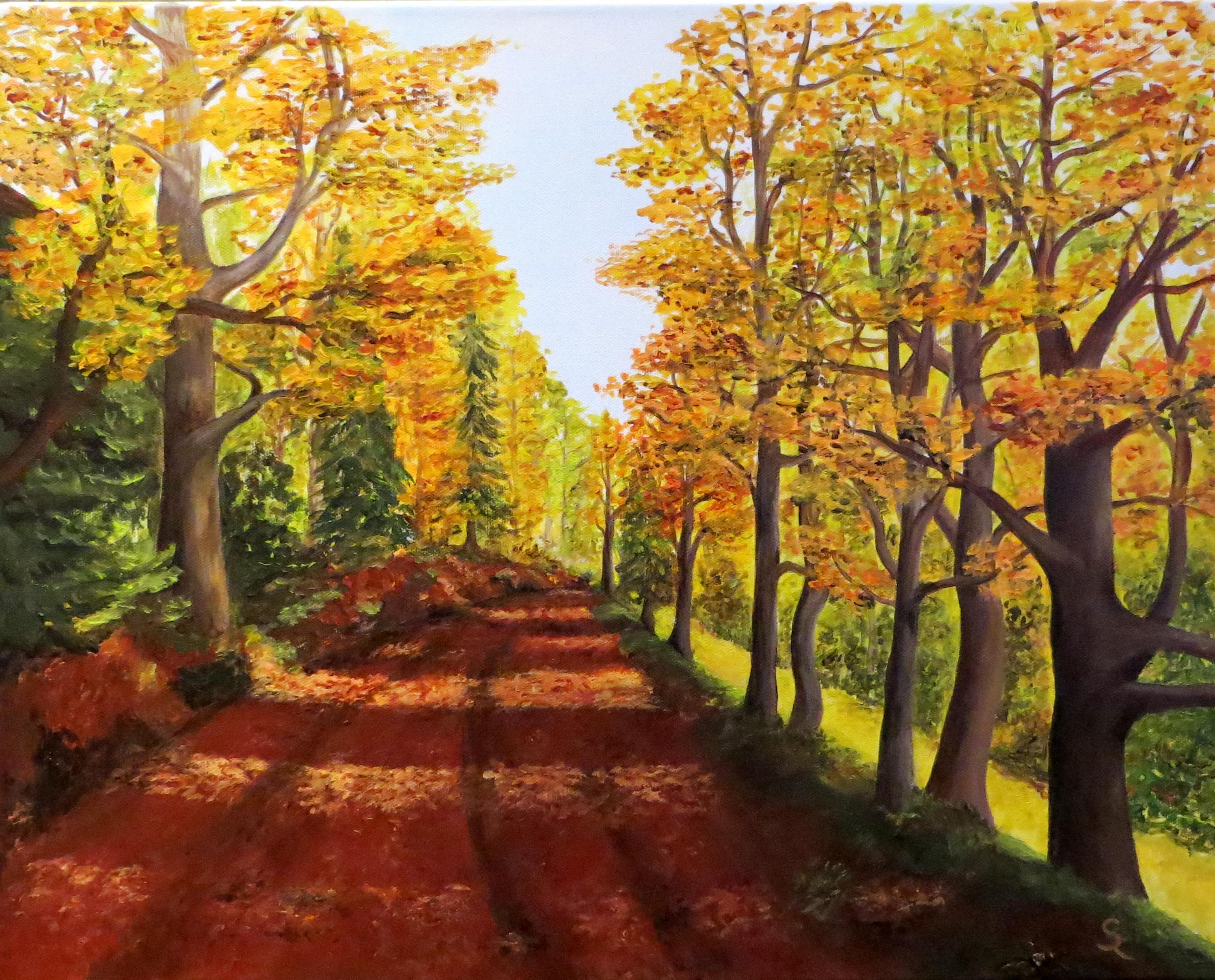 Herbst in der Mordschlucht (50x40 Acryl)