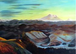 Vulkanischer Winter (50x70) Acryl