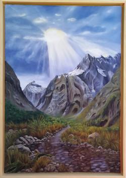 Mount Talbot (106x76) Öl auf Leinwand