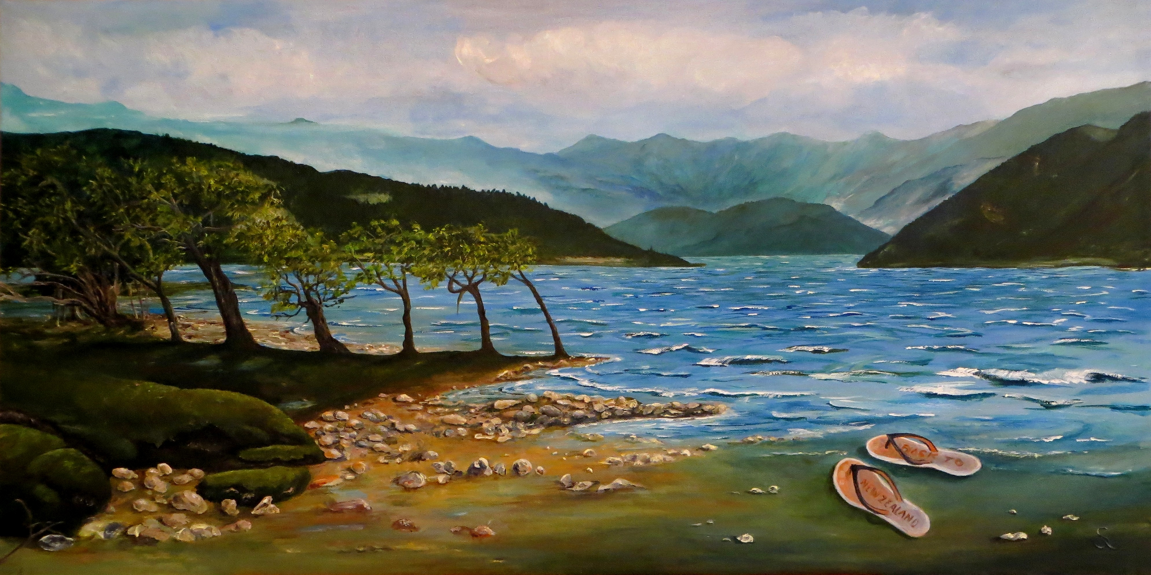 Back to New Zealand (50x100) Acryl