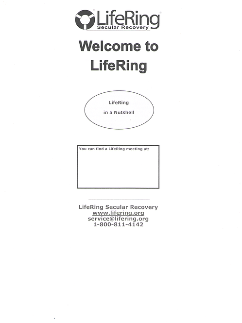 Welcome To LifeRing - Pack of 50 brochures