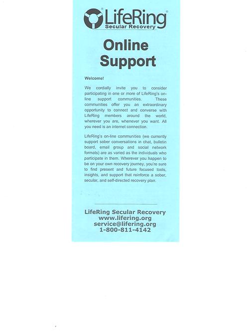 LifeRing Online - Pack of 50 brochures