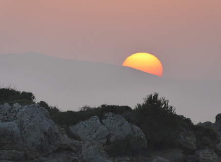 Sunset On Another Planet ? Stoupa Greece