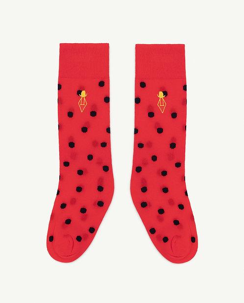 Hen Kids Socks Red Logo