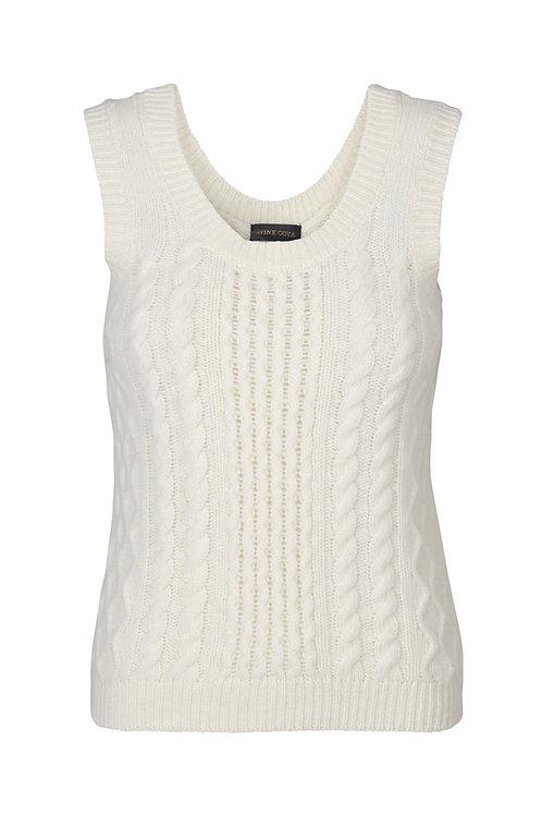 Lucas Cable Vest - Off White