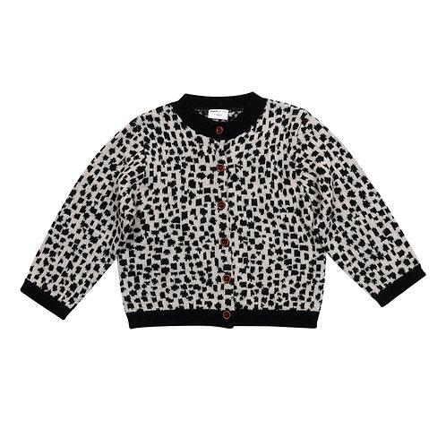 Snow leopard AOP / Knit Cardigan