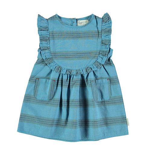 Short Dress Frill- Deep Blue