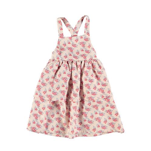 Short straps Dress-Pale Pink Flowers
