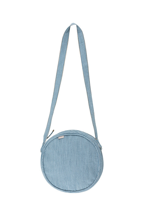 Striped Denim Bag