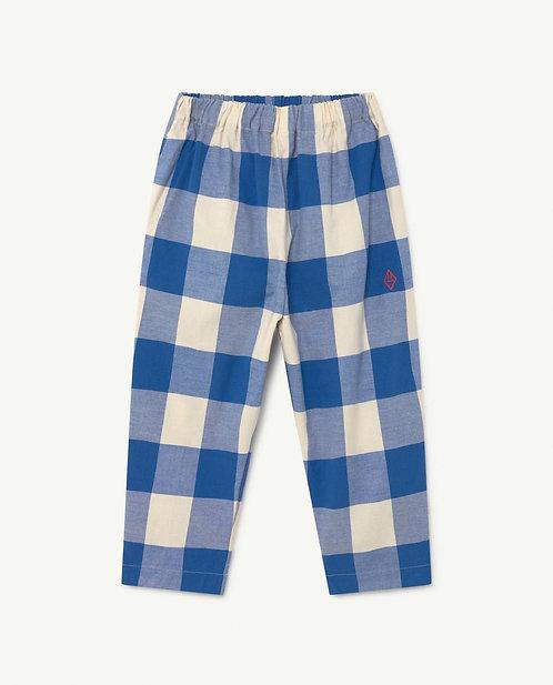 Elephant Kids Trousers- Blue Vichy Logo