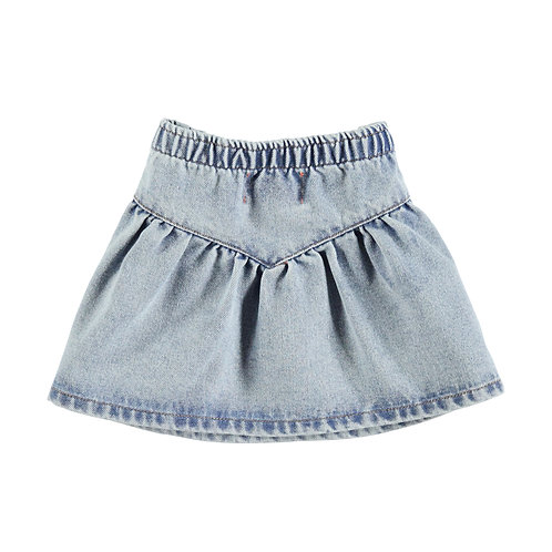 Mini Skirt-Blue Washed denim
