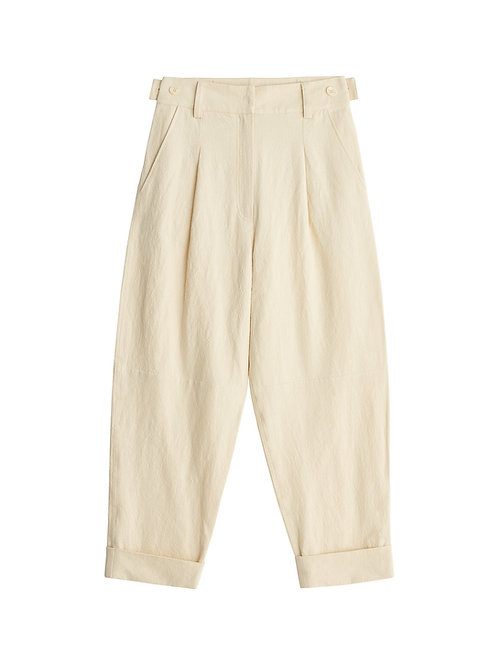 Olax cotton-linen trousers