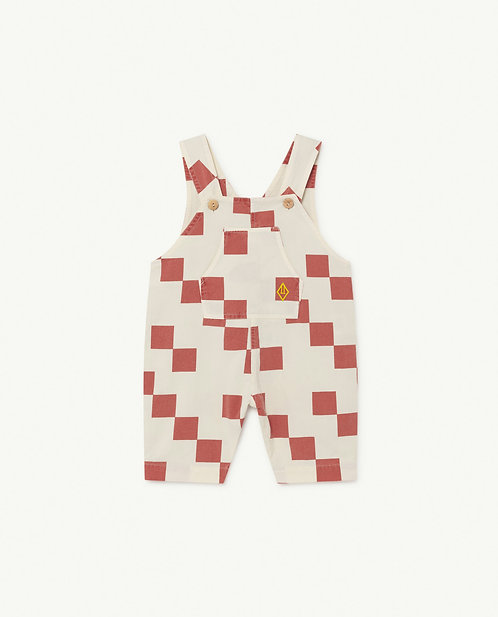 Mammoth Baby Jumpsuit White Squares