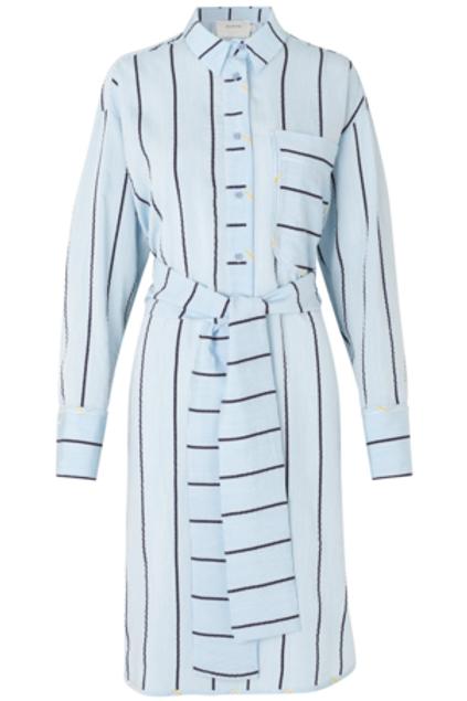 TILDEN DRESS, ICE BLUE
