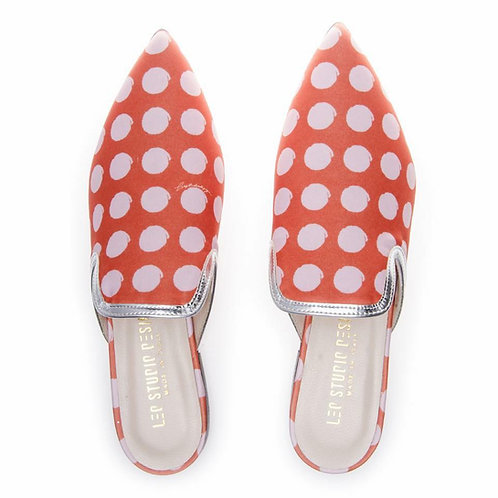 Dotted Pointed Mules