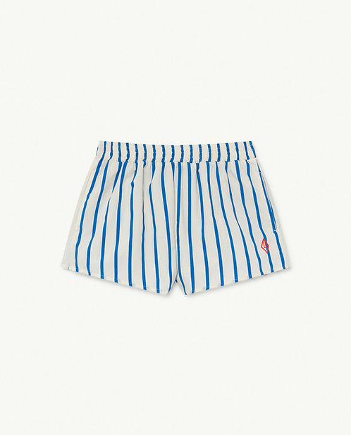 Puppy Kids Swimsuit White Stripes
