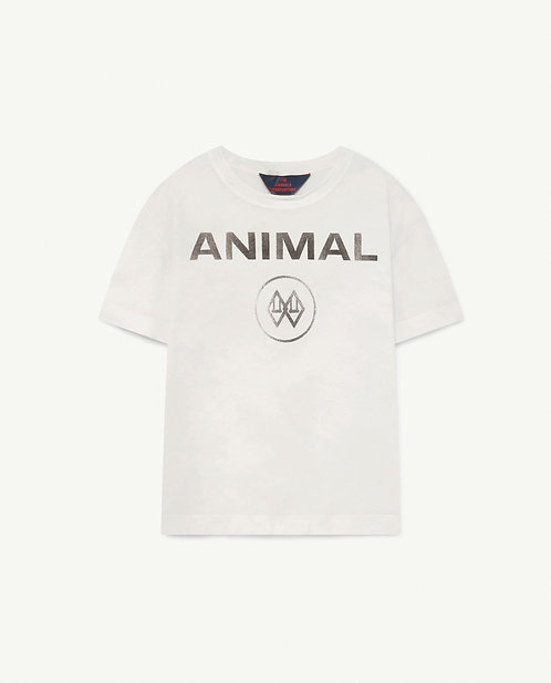 White Animal Rooster Kids T-Shirt