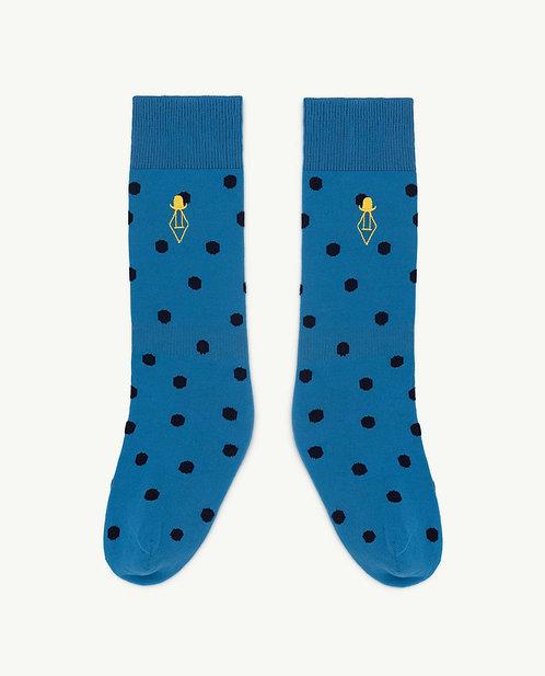 Hen Kids Socks Blue Logo