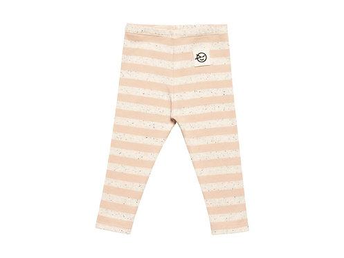 Striped leggings pink baby