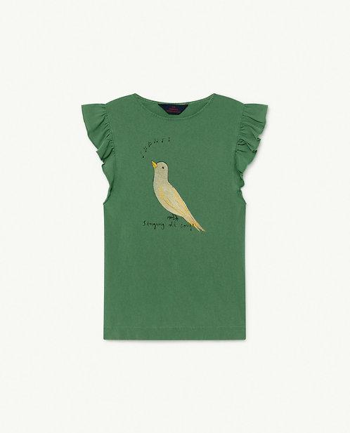 Fly Kids Dress Green Bird