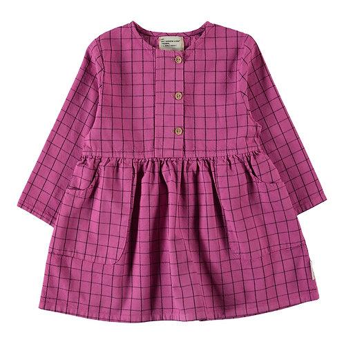 Checkered Fuchsia dress