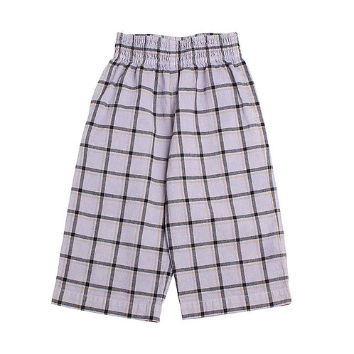 Sunset Check Culotte Pants