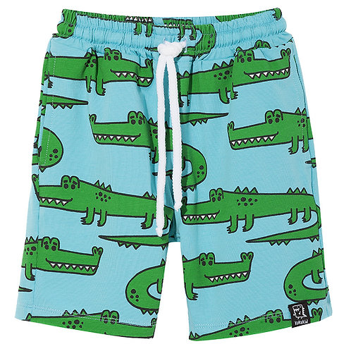 POCKET SHORTS | BLUE CROCODILES