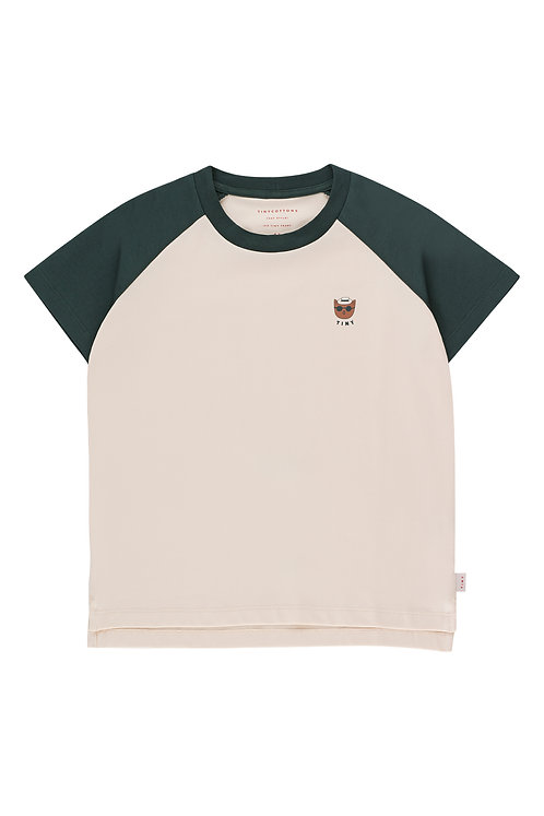 TINY CAT COLOR BLOCK TEE