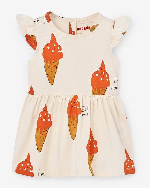 Baby Dress- Strawberry Ice Cream