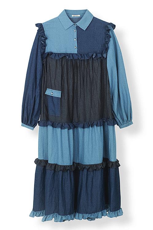 LINNEA DRESS - BLUE MIX