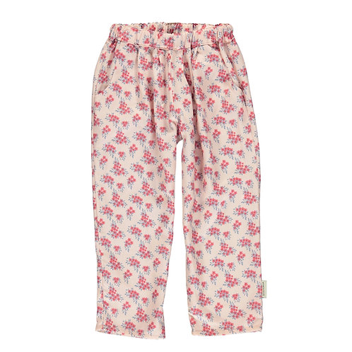 Trousers Pale Pink Flowers