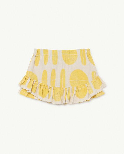White Ovals Kiwi Skirt
