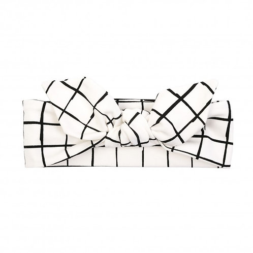 GIRL HEADBAND WHITE CHECK