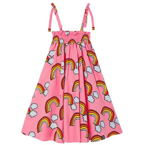SHOULDER STRAP DRESS | PINK RAINBOW