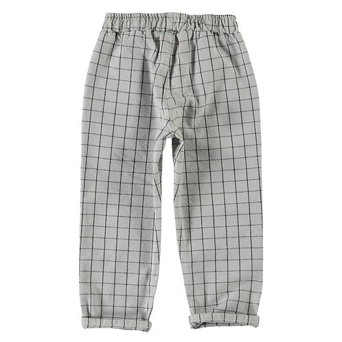 Unisex Checkered Trousers light grey