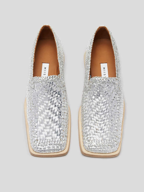 MARISSA SILVER LOAFERS